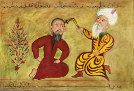 Ibn Sina treating the sick